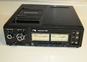 Nakamichi 550 Pro 3 Mic Field stereo portable Cassette Recorder NOT WORKING