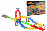 LARGE KIDS RACING CAR TRACK LOOP LAUNCHER 2 IN 1 360 SPEED POWERFUL JUMP 4 CARS