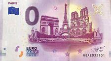 BILLET 0 EURO PARIS TROIS MUNUMENTS FRANCE  2019  NUMERO DIVERS