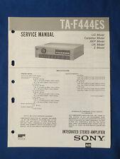 SONY TA-F444ES INTEGRATED AMP SERVICE MANUAL ORIGINAL FACTORY ISSUE GOOD COND