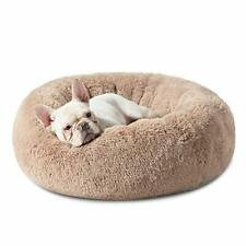 Calming Dog Bed for Small Dogs - Donut Washable Small Pet Bed, 23 inches Anti An