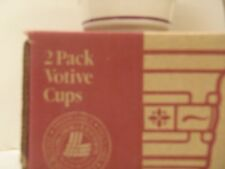 Longaberger 2 Votive Cups Candle Holders Dishes - Choice Of Color - New in box