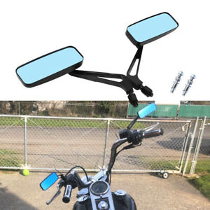 Rectangle Motorcycle Mirrors For Harley Softail Slim Sportster Iron XL 883 1200