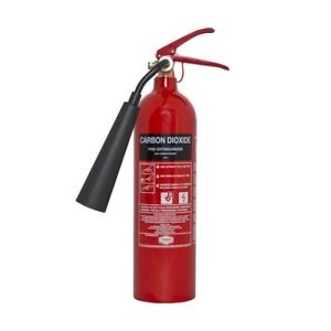 🔥PREMIUM REFURB 2KG CO2 FIRE EXTINGUISHER, FULL, HORN & BRACKET,FREE DELIVERY!