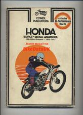 Honda Elsinore MT MR CR 125 175 250 M (1973-1977) Clymer Shop Manual Book CM85