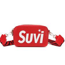 Borsa donna tracolla pochette rosso bianco nero elegante pelle sintetica 2482