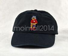 Classic POLO RL Vintage Teddy Bear Hat Boys Outdoors Sport Baseball Cap Black