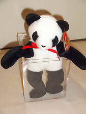 Retired Original Ty Beanie Baby Fortune Panda Bear 1998 5th Generation