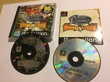 2 PS1 PLAYSTATION 1 GAMES PRO-PINBALL FANTASTIC JOURNEY + THE WEB COMPLETE PAL