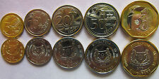 Singapore set of 5 coins 2013 (5+10+20+50 cents + 1 dollar) UNC