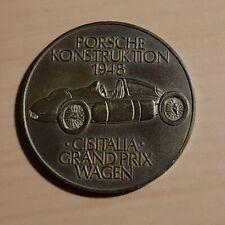 Porsche Münze Medaille 1972 Porsche Konstruktion 1948 Cisitalia - ORIGINAL