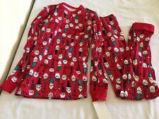 New Oshkosh Boy Elf Pajama 2pc Set Red Holiday Christmas...