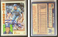 Jim Beattie Signed 1984 Topps #288 Card Seattle Mariners Auto Autograph