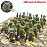 21pcs/set WW2 Allied Army Troops US Military Soldiers and Officer Legoing blocks