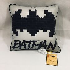 "The LEGO Batman Movie; Batman Gray & Black Throw Pillow (15""x15"") New!"