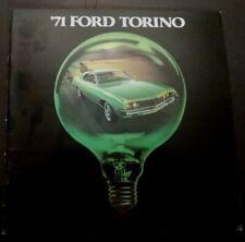 '71 FORD TORINO Original 1971 Ford Dealer Sales Brochure COBRAS Brougham GT Ex