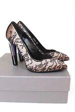 ALEXANDER MCQUEEN  Perspex Heel Floral Lace Satin Pumps Heels 38 uk 5