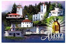 Alaska Lighthouses Postcard New Guard Island Ketchikan Rockwell Sitka Lynn Canal