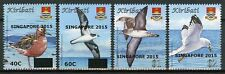 Kiribati 2015 MNH Birds Definitives Singapore 2015 OVPT 4v Set Seabirds Stamps