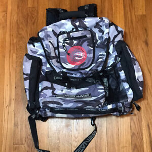 Vintage Senate Travel Gear aggressive skate backpack White Gray Black Camo Rare