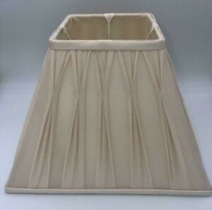 "✅Laura Ashley Ivory / Cream Silk Pinch / Pleated ✅Fenn Lampshade 12"" / 30cm✅"