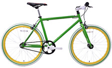 "JUNIOR SIZE FIXIE BIKE 24"" WHEEL 45CM FRAME, SINGLE SPEED, FLIP FLOP HUB GREEN"