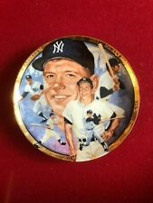 """1992, Mickey Mantle, Commemorative (6 1/2"""") Collector's Plate (LTD) Vintage"""