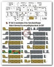 "Peddinghaus 1/72 Sd.Kfz.9 ""FAMO"" Half-track Markings WWII (16 versions) 1542"