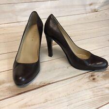 LAUREN RALPH LAUREN Dark Brown Pumps EUC Size 5B 3 1/2 inch heel **FREE SHIPPING