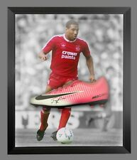 *New*John Barnes Signed Football Boot In An Acrylic Dome Presentation