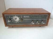 Vintage Sony Solid State AM Woodgrain Clock Radio 8RC-54 Tested Has Power