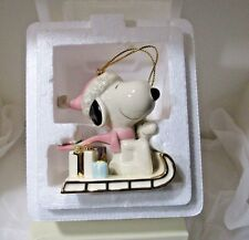 Lenox Snoopy'S Sledding Adventure Ornament -Pre Owned