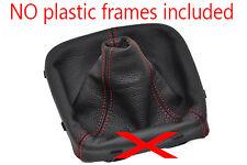FITS SEAT IBIZA MK5 MKV  2009-2014 GEAR GAITER RED DOUBLE STITCHING