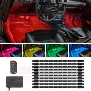 LEDGlow 10pc Million Color Pro LED Interior Footwell Underdash Neon Light Kit