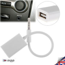 Cavo AUX Auto Audio MP3 CONVERTITORE JACK MASCHIO DA 3.5mm a 2.0 spina USB Donna