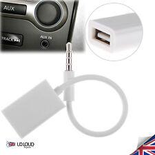 Car Aux Cable Audio MP3 Converter 3.5mm Jack Male to 2.0 Female USB Plug