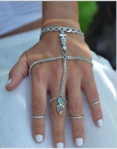 Women Bracelet Bangle Finger Ring Harness Hand Chain Jewellery Boho