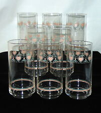 """8 Corelle FOREVER YOURS *6"""" ICED TEA TUMBLERS*"""