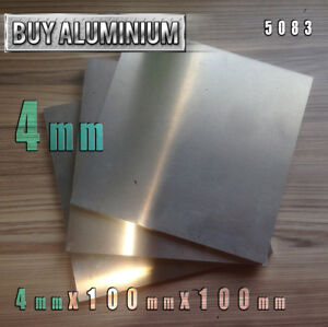 4mm Aluminium Plates 100mm x 100mm - 5083