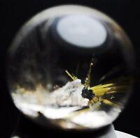 Natural Clear Sun Sunflower Titanium Crystal Quartz Crystal Sphere Balls Healing