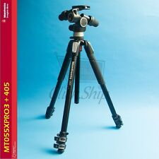 Manfrotto MT055XPRO3 Aluminum Tripod with 405 Pro Digital Geared Head Kit