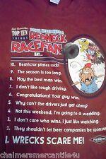 Foxworthy Redneck SS T-Shirt 10 Race Fan Sayings XXL M & O Knits Burgundy Red