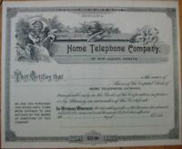 1890 Stock Certificate-Home Telephone Co-New Albany, IN