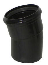 Above Ground Soil System 15 Degree SS Bend (Single Socket) 110mm Black