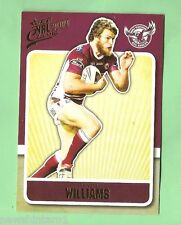 2009  MANLY SEA EAGLES  NRL   RUGBY LEAGUE CARD #74  DAVID WILLIAMS