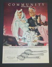 1942  Original Magazine Ad COMMUNITY SILVERPLATE Wedding Jon Whitcomb