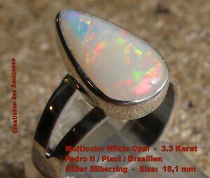 Multicolor Opal 3.3 Karat 925er Silberring Größe 18,1 mm
