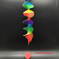 Rainbow Spiral Windmill Wind Chimes Spinner Garden Home Hanging Decor Ornament