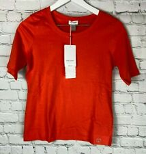 NWT GERRY WEBER COLLECTION Womens' Orange Short Sleeve Shirt Size US 4 $60.00