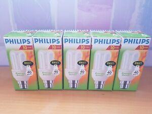 5x Phillips Energy Saving 10 Year Long Life,  8-40W Light Bulb Bayonet
